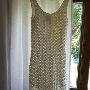 White Crocheted Dress Size M